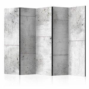 Vouwscherm - Betonnen wand 225x172cm