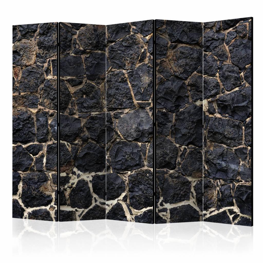 Vouwscherm - Stenen schemer 225x172cm