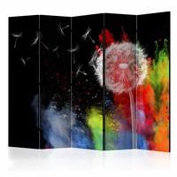Vouwscherm - Kleurrijk Element 225x172cm