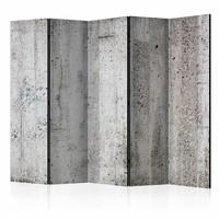 Vouwscherm - Grijze muur 225x172cm