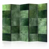 Vouwscherm - Groene puzzel 225x172cm  , gemonteerd geleverd (kamerscherm)