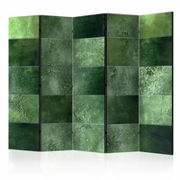 Vouwscherm - Groene puzzel 225x172cm