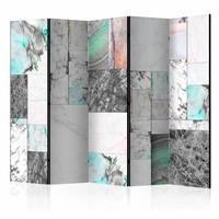 Vouwscherm - Marmeren platen 225x172cm