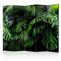 Vouwscherm - Regenwoud 225x172cm, gemonteerd geleverd, dubbelzijdig geprint (kamerscherm)
