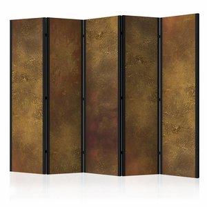 Vouwscherm - Gouden muur 225x172cm  , gemonteerd geleverd, dubbelzijdig geprint(kamerscherm)