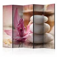 Vouwscherm - Aromatherapie 225x172cm, gemonteerd geleverd, dubbelzijdig geprint (kamerscherm)