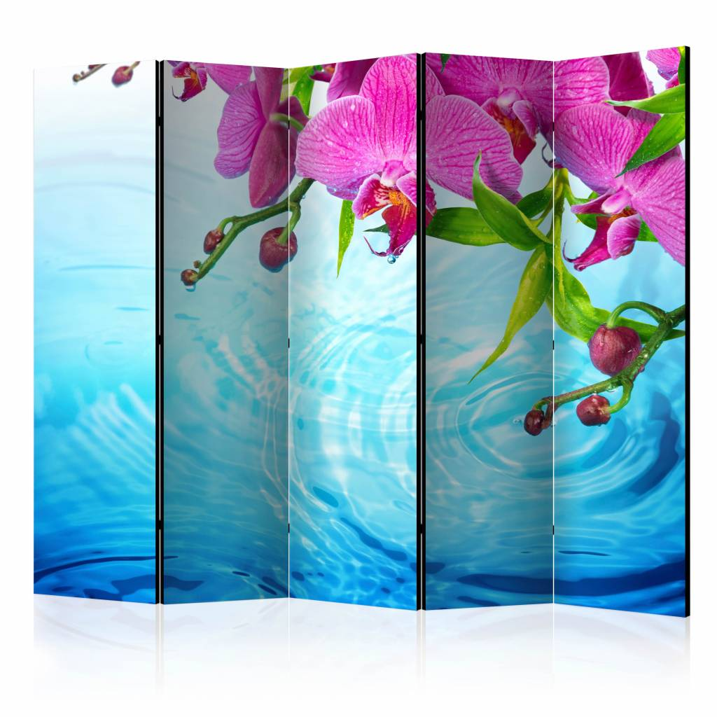 Vouwscherm - Orchidee�n over water 225x172cm
