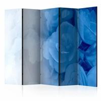 Vouwscherm - Blauw boeket 225x172cm