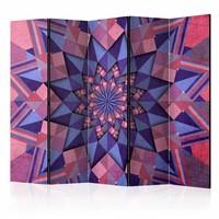 Vouwscherm - Star Mandala (Pink-Violet) 225x172cm