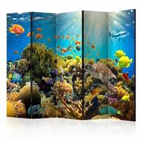 Vouwscherm - Onderwaterland 225x172cm  , gemonteerd geleverd (kamerscherm)