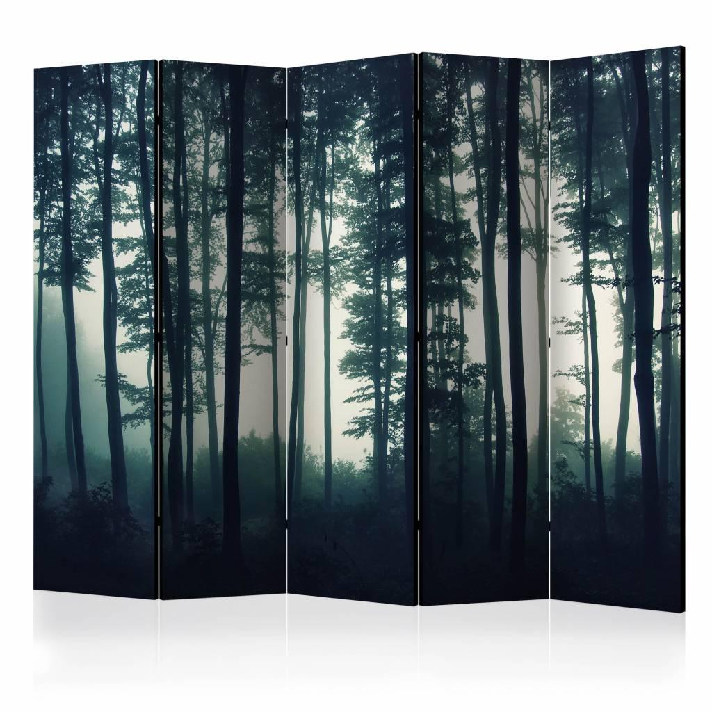 Vouwscherm - Natuur: Donker bos 225x172cm