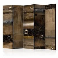 Vouwscherm - Van metaal (look) 225x172cm (Canvas scherm)