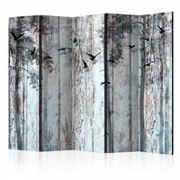 Vouwscherm - Rustieke planken 225x172cm