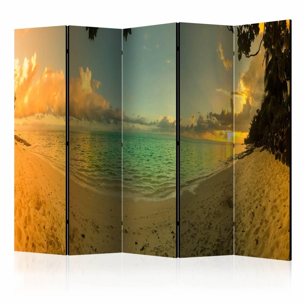 Vouwscherm - Zonsondergang in Tahiti 225x172cm