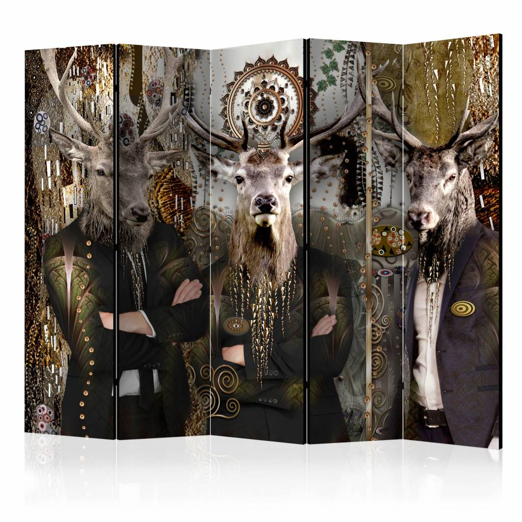 Vouwscherm - Drie dieren 225x172cm
