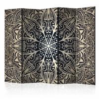 Vouwscherm - Veren, bruin 225x172cm