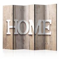 Vouwscherm -  Home op houten planken 225x172cm