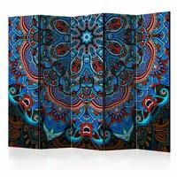 Vouwscherm - Blauwe Fantasie II 225x172cm