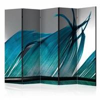 Vouwscherm - Turquoise Veer 225x172cm  , gemonteerd geleverd (kamerscherm)