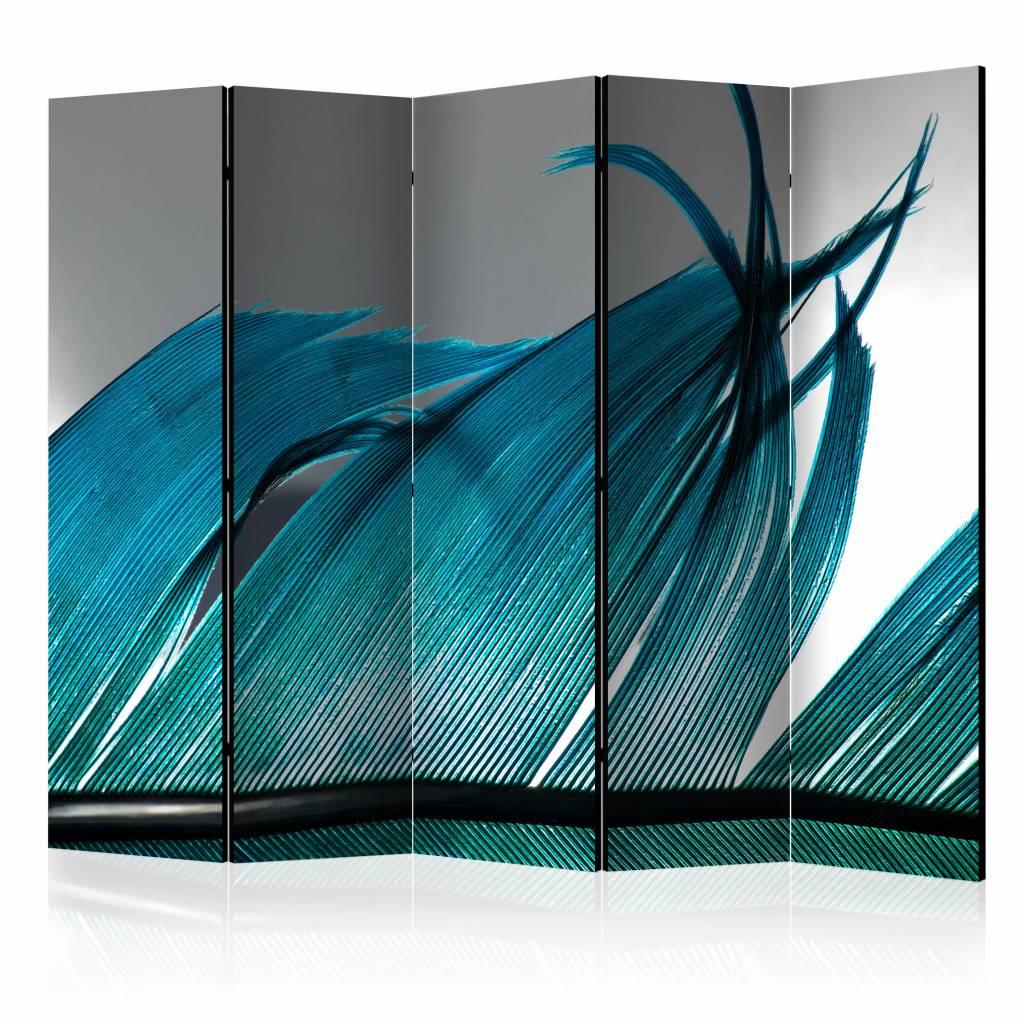 Vouwscherm - Turquoise Veer 225x172cm