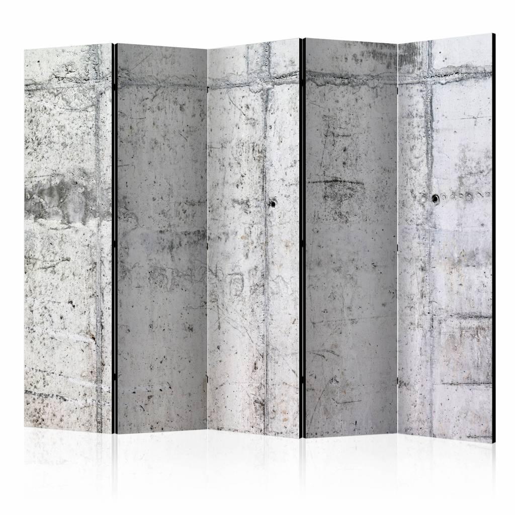 Vouwscherm - Betonnen muur 225x172cm