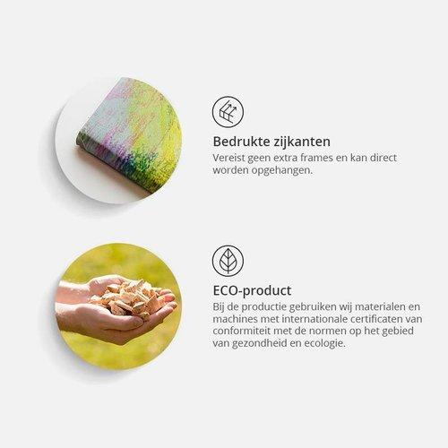 Afbeelding op kurk - Wereld op Kubussen,  Wereldkaart, Multikleur , 1luik