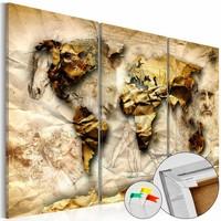Afbeelding op kurk - Anatomie van de wereld, wereldkaart
