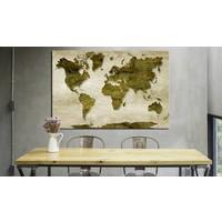 Afbeelding op kurk - Bos Planeet, Wereldkaart, Groen, 1luik