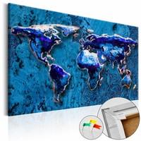 Afbeelding op kurk - Cobalt Immersion, wereldkaart