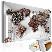 Afbeelding op kurk - The Future World , wereldkaart