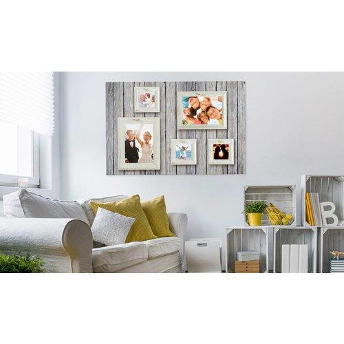 Afbeelding op kurk - Fotolijstjes, Grijs/Wit, 3 Maten, 1luik