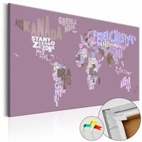 Afbeelding op kurk - Sprookjes wereld, wereldkaart