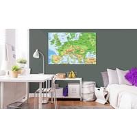 Afbeelding op kurk - Europa, Multi kleur, 1luik
