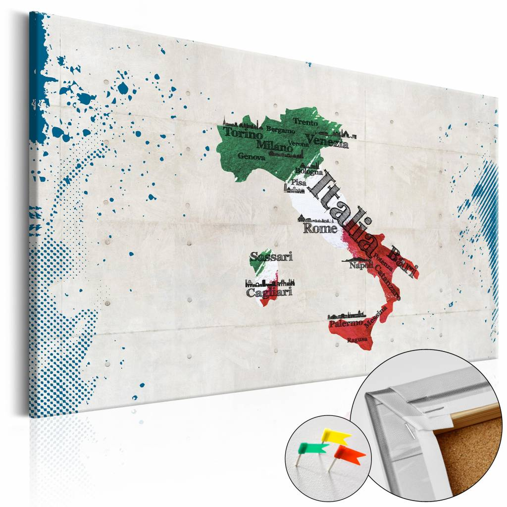 Afbeelding op kurk - Itali�, , Multi kleur, 1luik
