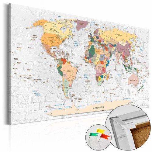 Afbeelding op kurk - World's Walls , wereldkaart