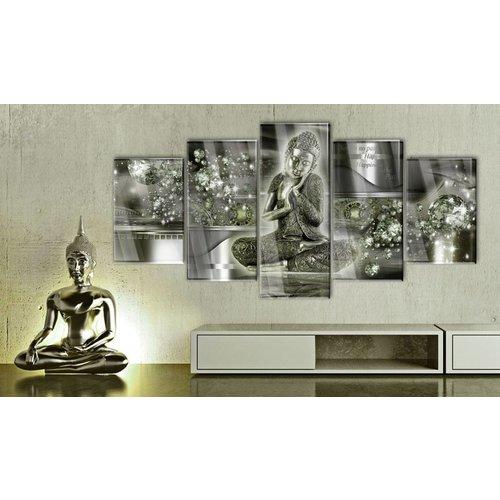 Afbeelding op acrylglas - Boeddha van Smaragd, Groen,   5luik