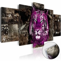 Afbeelding op acrylglas - Purple King [Glass]