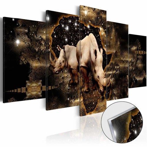 Afbeelding op acrylglas - Golden Rhino [Glass]