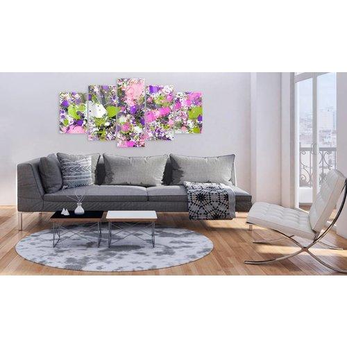 Afbeelding op acrylglas - Art III, Multi-gekleurd,   5luik