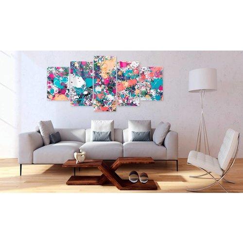 Afbeelding op acrylglas - Art II, Multi-gekleurd,   5luik