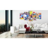Afbeelding op acrylglas - Colourful Imagination [Glass]