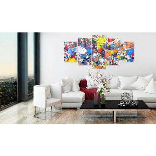 Afbeelding op acrylglas - Art, Multi-gekleurd,   5luik