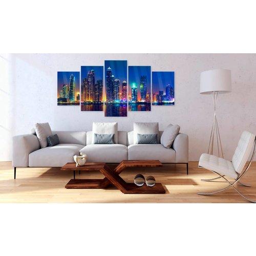 Afbeelding op acrylglas - Nights in Dubai [Glass]