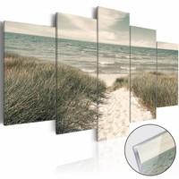 Afbeelding op acrylglas - Quiet Beach [Glass]