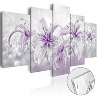 Afbeelding op acrylglas - Paarse schoonheid, Paars/Wit,   5luik
