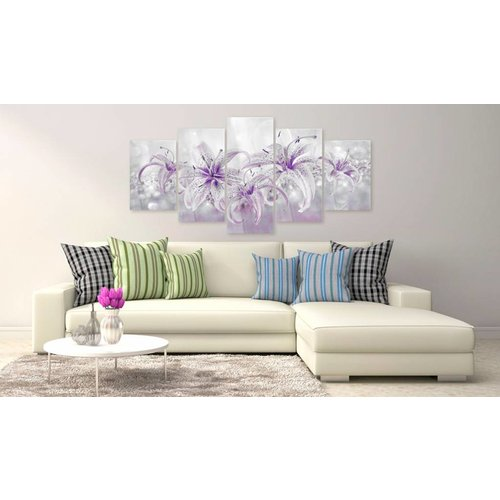 Afbeelding op acrylglas - Purple Graces [Glass]