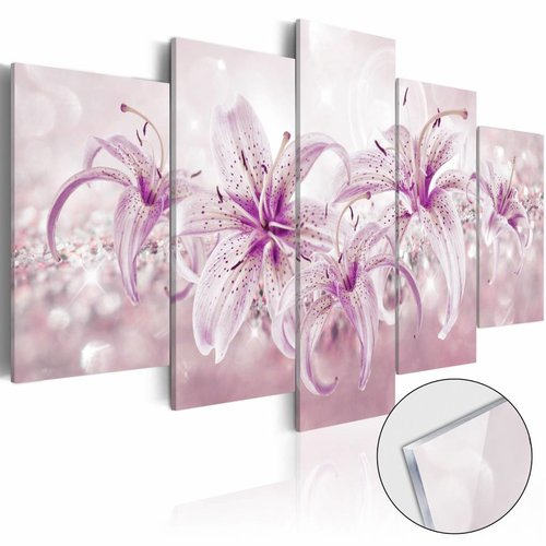 Afbeelding op acrylglas - Paarse harmonie, 2 Maten, 5luik