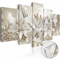 Afbeelding op acrylglas - Koningin van de winter, Wit,   5luik