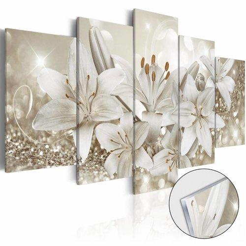 Afbeelding op acrylglas - Koningin van de winter, Wit, 2 Maten, 5luik