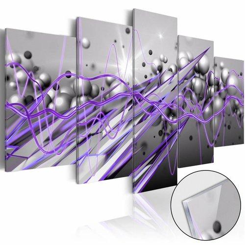 Afbeelding op acrylglas - Paarse stroom, Paars/Grijs,  5luik
